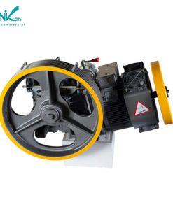 موتور گیربکس9.2 کیلووات سیکور MR14 (تک سرعته 3VF) با سرعت 1متر، ساخت کارخانه سیکور ایتالیا مناسب برای 10 نفر تا طول 30 متر می باشد.